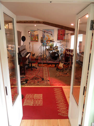 Photo of our Live Room here at Developing Creative Music