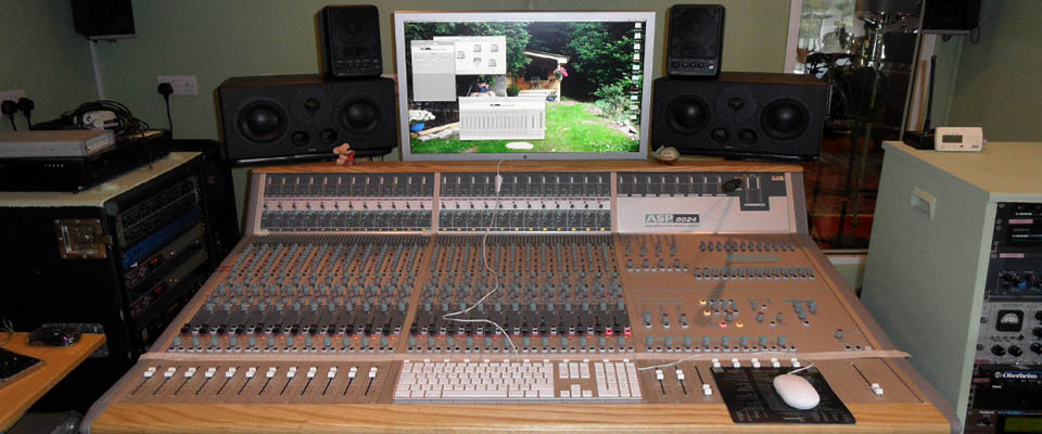 Mixing desk at DCM Ltd