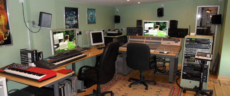 Picture of the studio layout at DCM